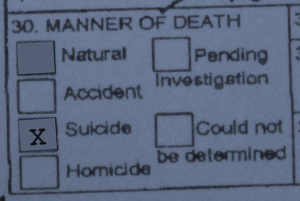 Box 30 of Alaska's Death Certificate. Image by author
