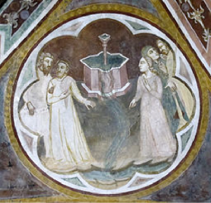 Fountain of Youth Fresco in San Miniato, Pisa. Image from Wikimedia Commons