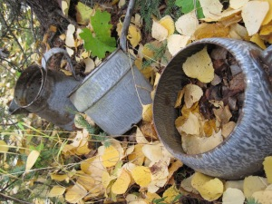 A set of pans I found at the site of an old cabin near Fairbanks. They may be over 100 years old.