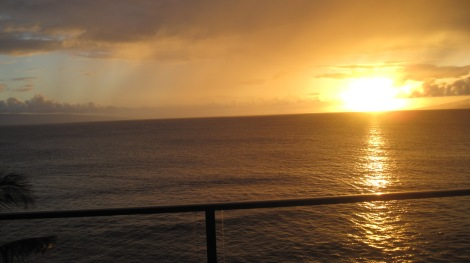 Sunset on Maui, Hawaiian Islands Photo by author